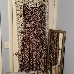 EUC Brown and ivory dress 16